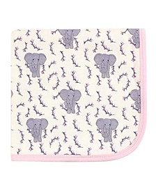 Baby Girls and Boys Elephant Swaddle, Receiving and Multi-purpose Blanket