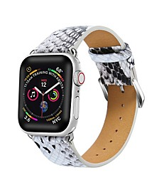 Men's and Women's Apple White Leather Replacement Band 40mm