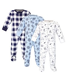 Baby Girls and Boys Arctic Sleep and Play, Pack of 3