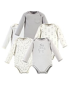 Baby Girls and Boys Farm Friends Long-Sleeve Bodysuits, Pack of 5
