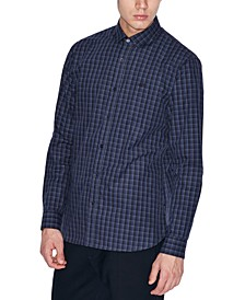 Men's Button-Down Check Shirt