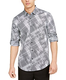 Men's Classic-Fit Crosshatch-Print Shirt, Created for Macy's