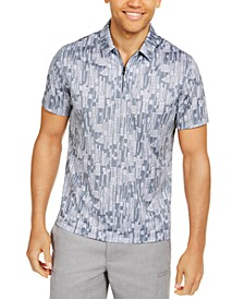 Men's Classic-Fit Performance Stretch Abstract Dash-Print Polo Shirt, Created for Macy's