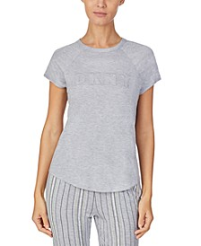 Contrast-Trim Sleep T-Shirt