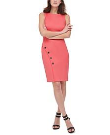 Embellished Skirt-Overlap Sheath Dress