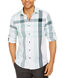 Men's Broad Plaid Cotton Shirt, Created for Macy's