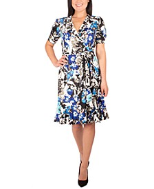 Petite Printed Side-Tie Dress