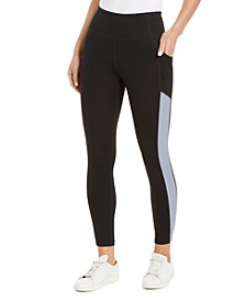 Textured-Stripe High-Waist Leggings