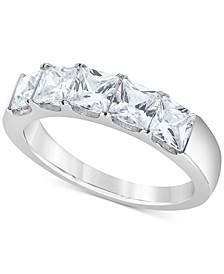 Diamond Princess Band (2 ct. t.w.) in 14k White Gold