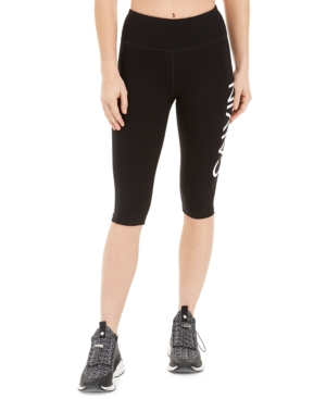 Calvin Klein PERFORMANCE LOGO HIGH-WAIST CAPRI LEGGINGS