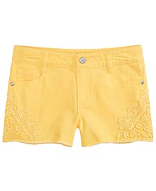 Big Girls Crochet Inset Shorts, Created for Macy's