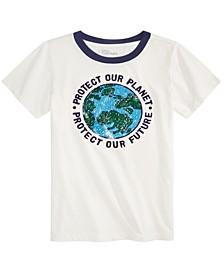 Little Boys Planet Flip T-Shirt, Created for Macy's