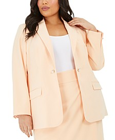 Clavin Klein Plus Size One-Button Blazer