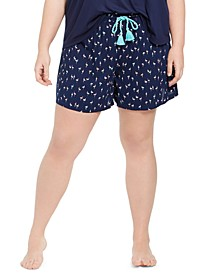 Plus Size Printed Pajama Shorts, Created for Macy's