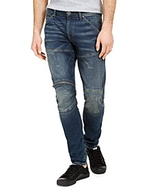 Men's Skinny-Fit Zip-Knee Jeans, Created for Macy's