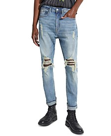 Men's Slim-Fit Tapered, Cropped Jeans