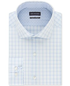Men's Air + Slim-Fit Non-Iron Performance Stretch Check Dress Shirt
