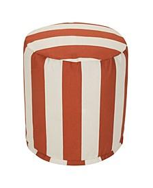 """Vertical Stripe Ottoman Round Pouf 16"""" x 17"""""""