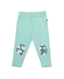 Baby Boys and Girls Snow Bear Mint Patch Trouser