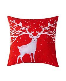 "Christmas Deer Decorative Pillow, 20"" x 20"""