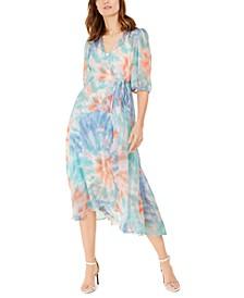 Tie-Dyed Wrap Dress