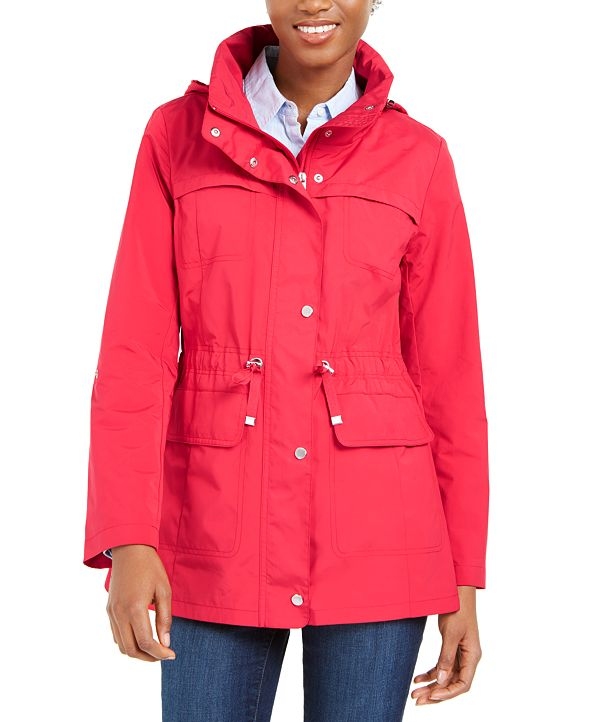 Cole Haan Packable Hooded Water-Resistant Anorak Coat