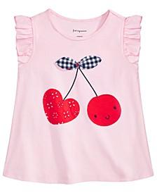 Baby Girls Cotton Cherry Heart T-Shirt, Created for Macy's