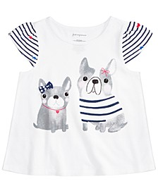 Baby Girls Cotton Puppy Friends T-Shirt, Created for Macy's
