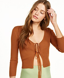 Tie-Front Cardigan, Created for Macy's