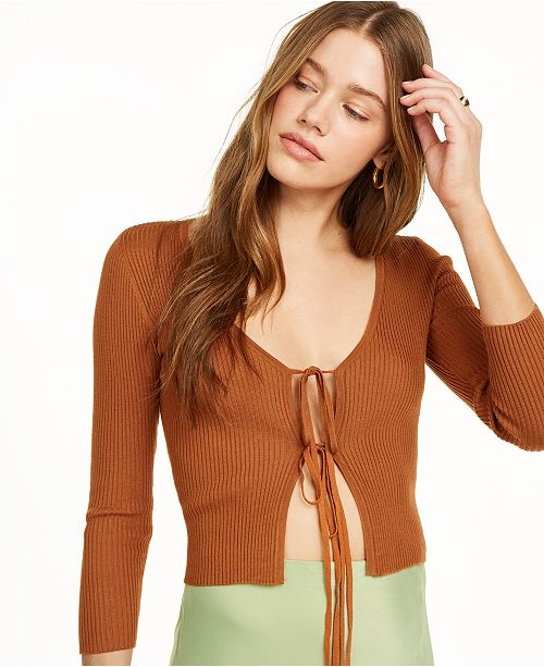 Danielle Bernstein Tie-Front Cardigan, Created for Macy's