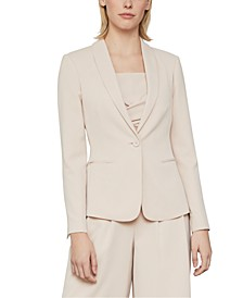 Shawl-Collar Twill Jacket