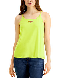 Bar III Zip-Back Halter Top, Created for Macy's
