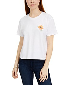 Juniors' Wildflower Foil Graphic T-Shirt