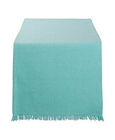 Solid Heavyweight Fringed Table Runner