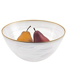 "Alabaster 10"" Glass Bowl with Rim"