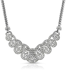 Crystal St. James Club Scalloped Pave Necklace