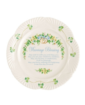 Belleek Pottery Marriage Blessing Plate