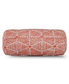 "Charlie Decorative Round Bolster Pillow 18.5"" x 8"""