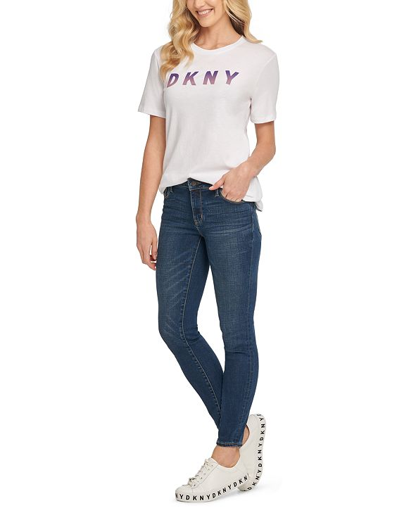 DKNY Ombré Logo-Graphic T-Shirt