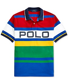 Big Boys Striped Cotton Mesh Polo