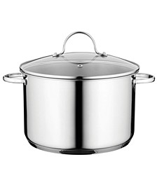"Comfort Stainless Steel 10"" Covered Stockpot"