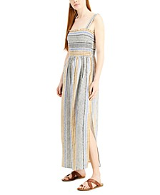 Juniors' Striped Maxi Dress