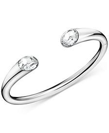 Crystal Cuff Bracelet in Stainless Steel
