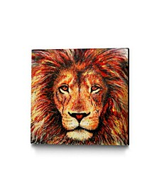 """Dino Tomic Lion Museum Mounted Canvas 24"""" x 24"""""""