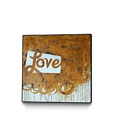 "Kent Youngstrom Love 5 Art Block Framed 24"" x 24"""