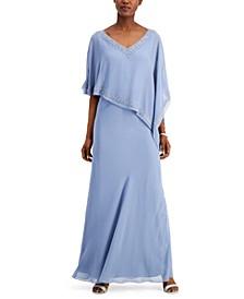 Asymmetrical Chiffon Gown