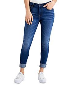 Mid-Rise Cuffed Skinny Jeans