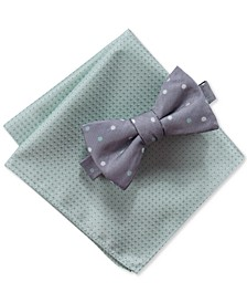 Men's Palmer 2-Pc. Pre-Tied Dot Bow Tie & Pocket Square Set, Created for Macy's