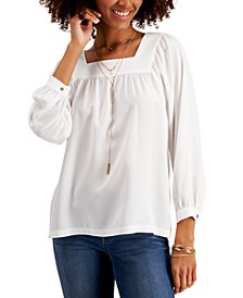 Square-Neck Top, Created for Macy's