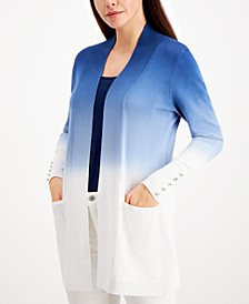 Dip-Dyed Button-Trimmed Cardigan, Created for Macy's